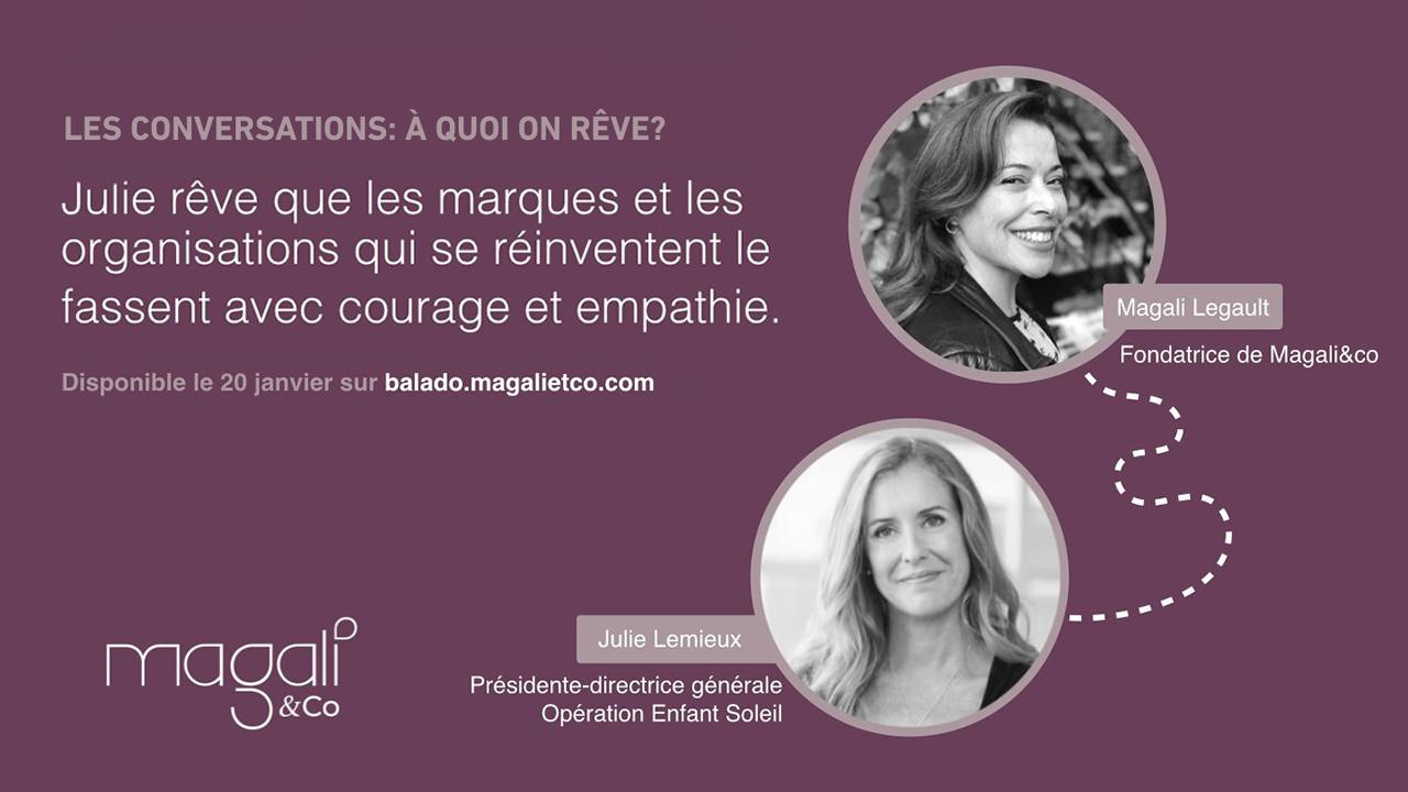 Julie Lemieux 20 janvier : Innover avec empathie et courage