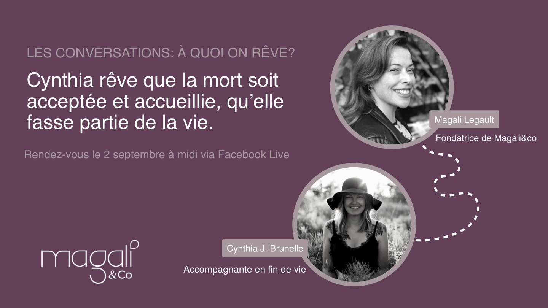 Cynthia J. Brunelle 2 septembre: Mieux vivre avec la mort