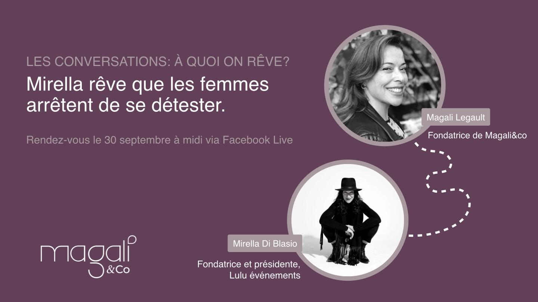 Mirella Di Blasio 30 septembre : Plus de sororité et d'amour de soi